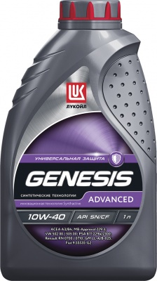 Масло Лукойл Genesis Advanced 10W-40 полусинтетика